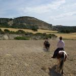 Désert des Bardenas à cheval