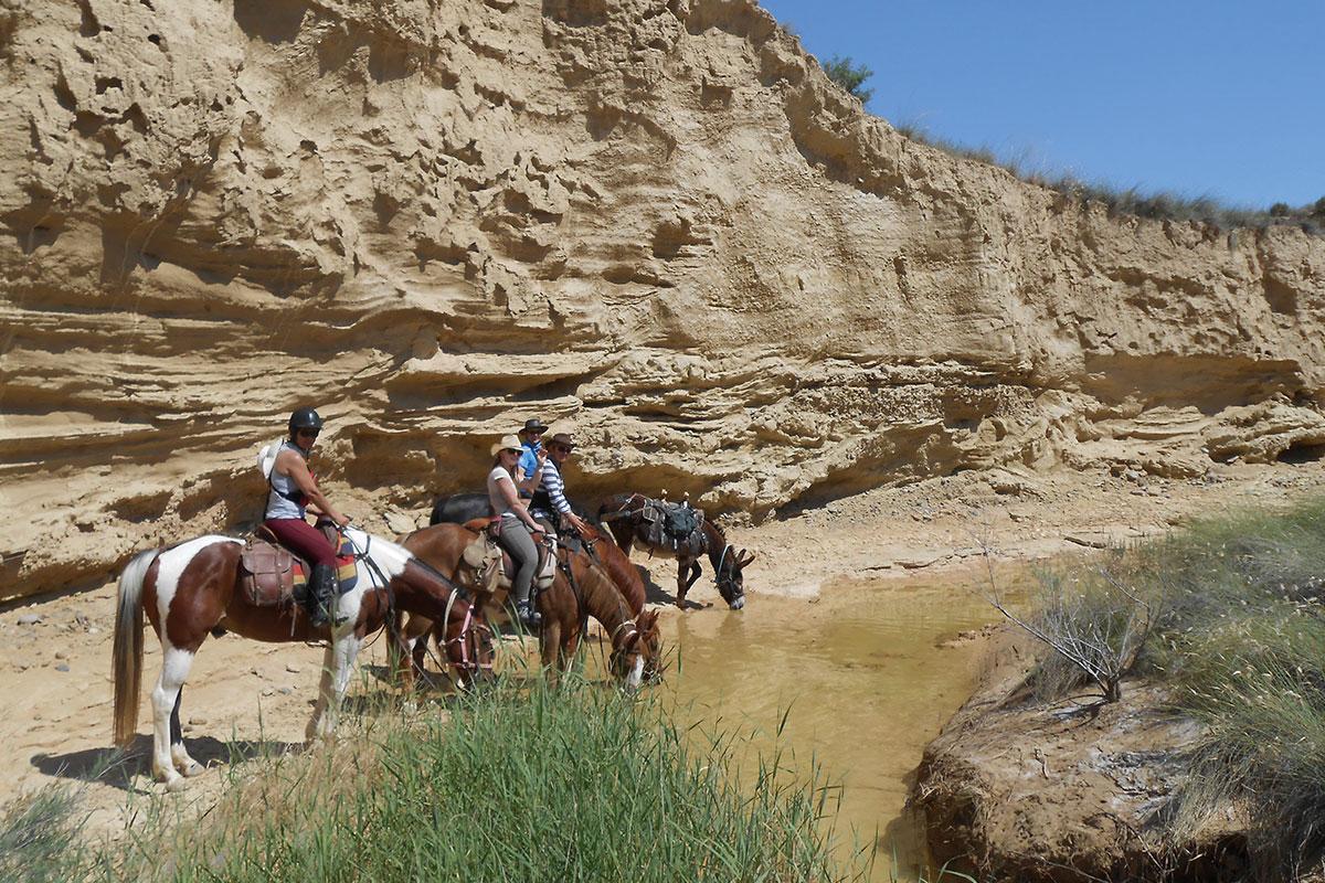 Désert des Bardenas à cheval: ITINÉRAIRE 2