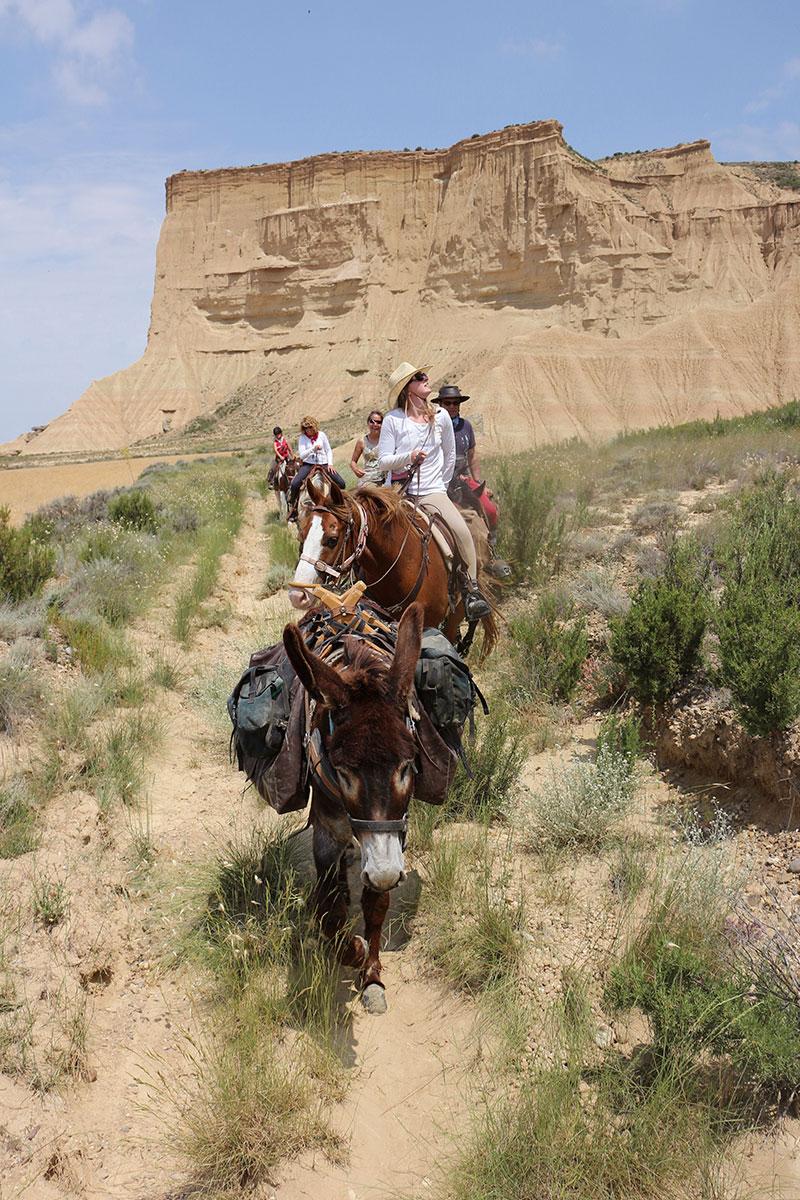Désert des Bardenas à cheval: ITINÉRAIRE 3