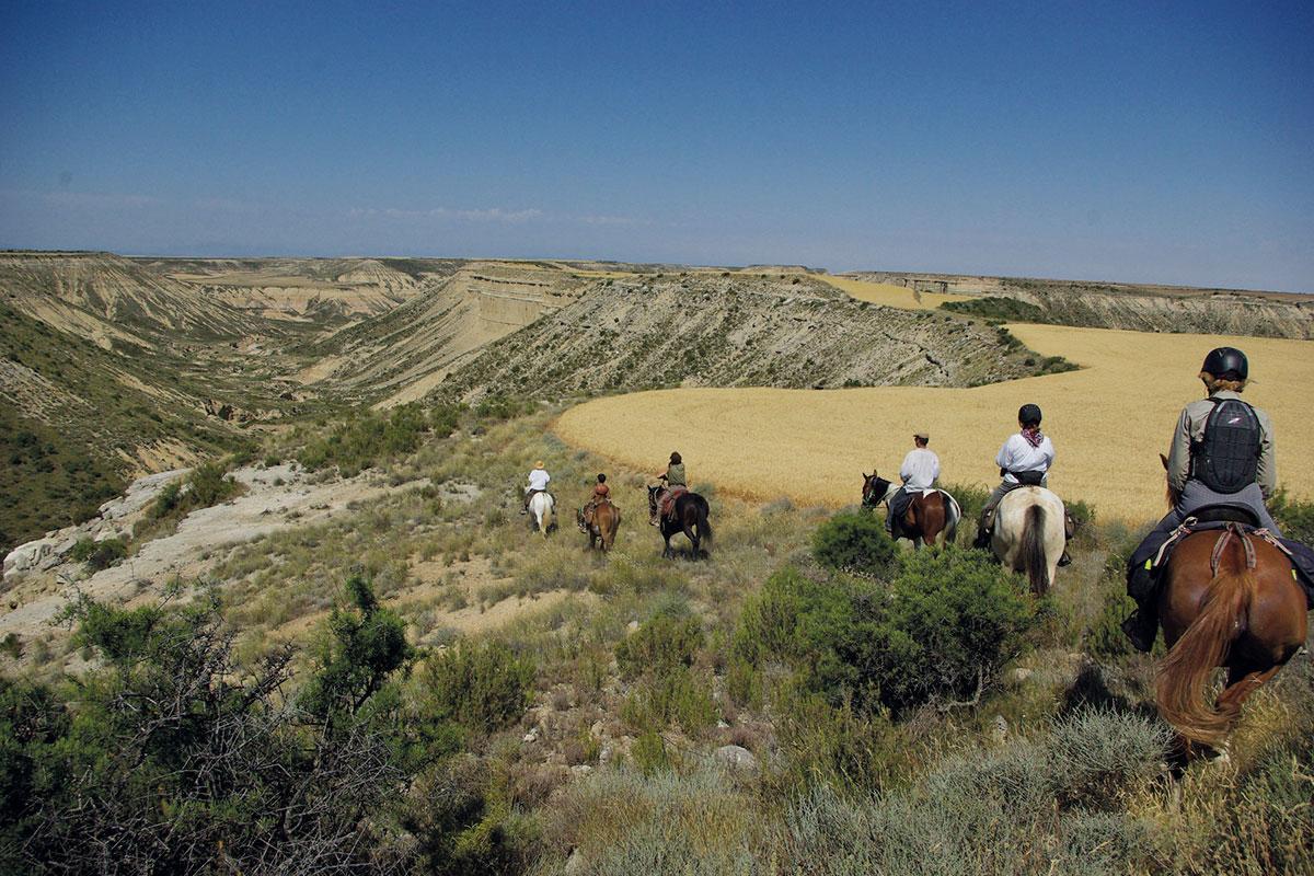 Désert des Bardenas à cheval: ITINÉRAIRE 4